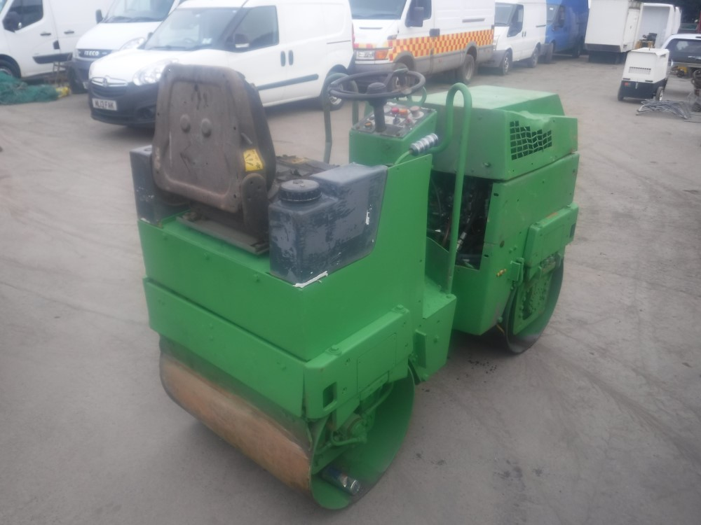 Lot 1141 - BOMAG BW80 TWIN DRUM ROLLER, 3789 HOURS (NO KEY) [NO VAT]