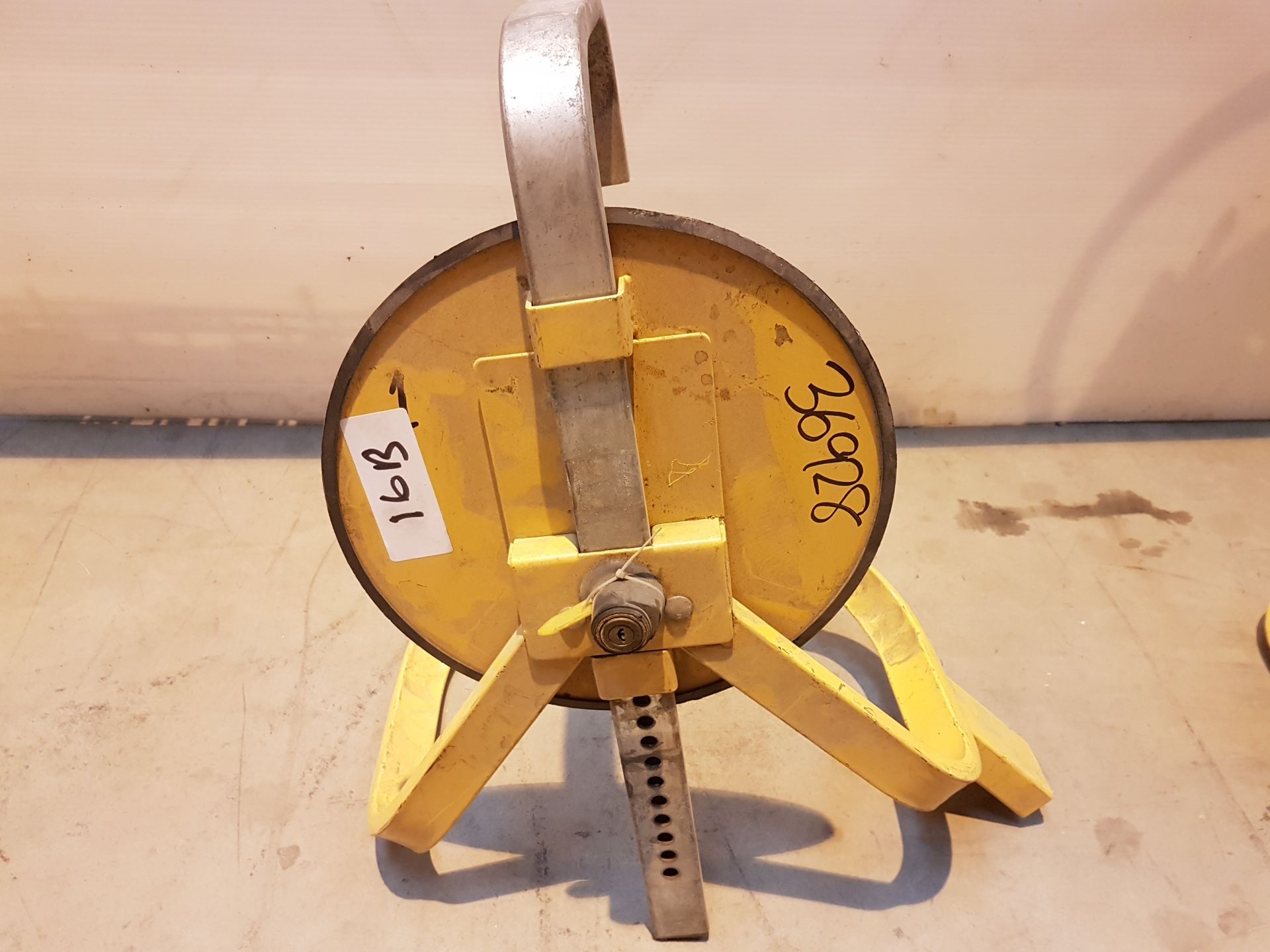 Lot 16 - Wheel Clamp with Key 36928, working