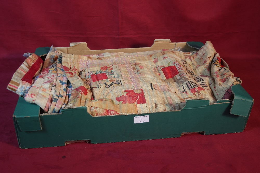Lot 6 - A 1930's log cabin patchwork quilt