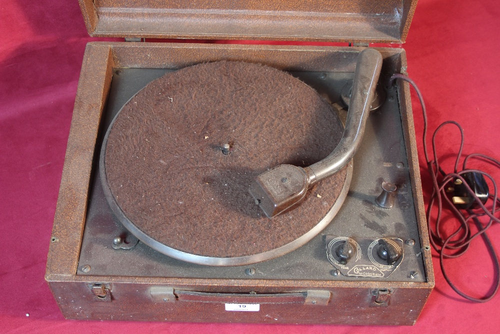 Lot 19 - A vintage Collard record player, sold as a collect