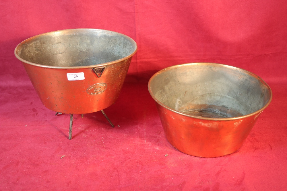 Lot 29 - A copper friar filter by Gaskel & Chambers and a l
