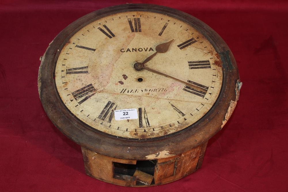 Lot 22 - A Canova of Halesworth wall clock, AF