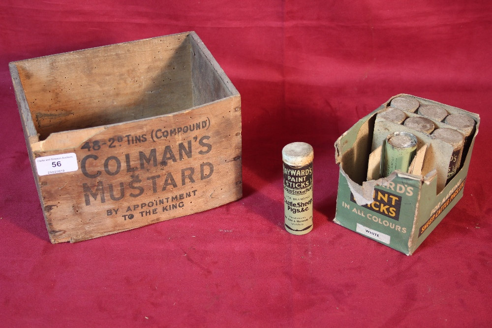 Lot 56 - A Colmans Mustard box and a quantity of Haywards