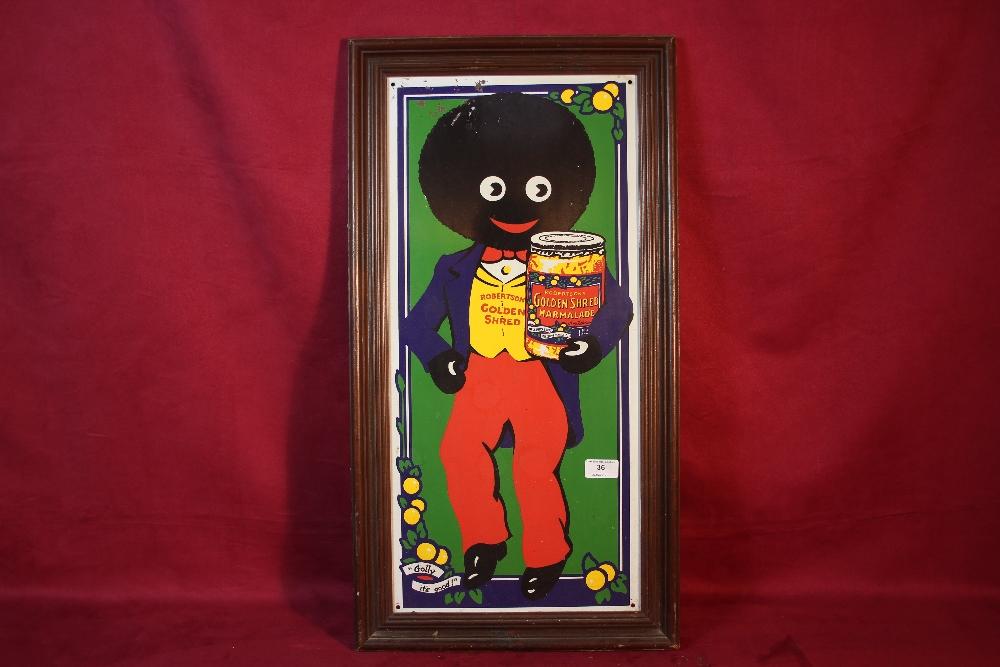 "Lot 36 - A ""Robertson Golden Shred"", enamel advertising sign,"