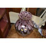 Lot 339 - A large amethyst coloured Art Glass vase
