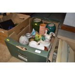 Lot 58 - A box of mostly pottery items