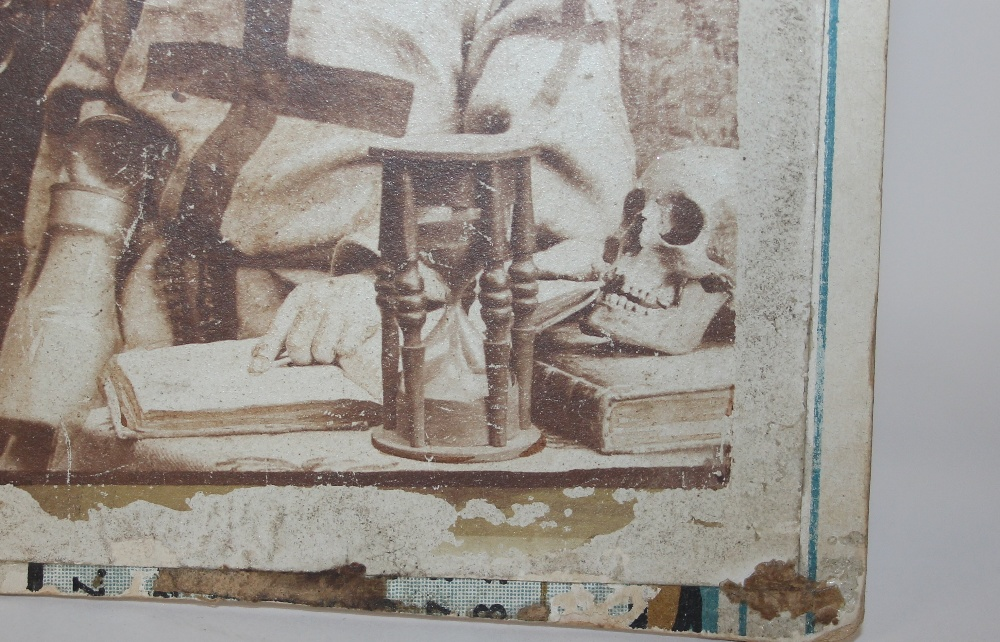 A large antique wooden hour glass with original bl - Image 3 of 5