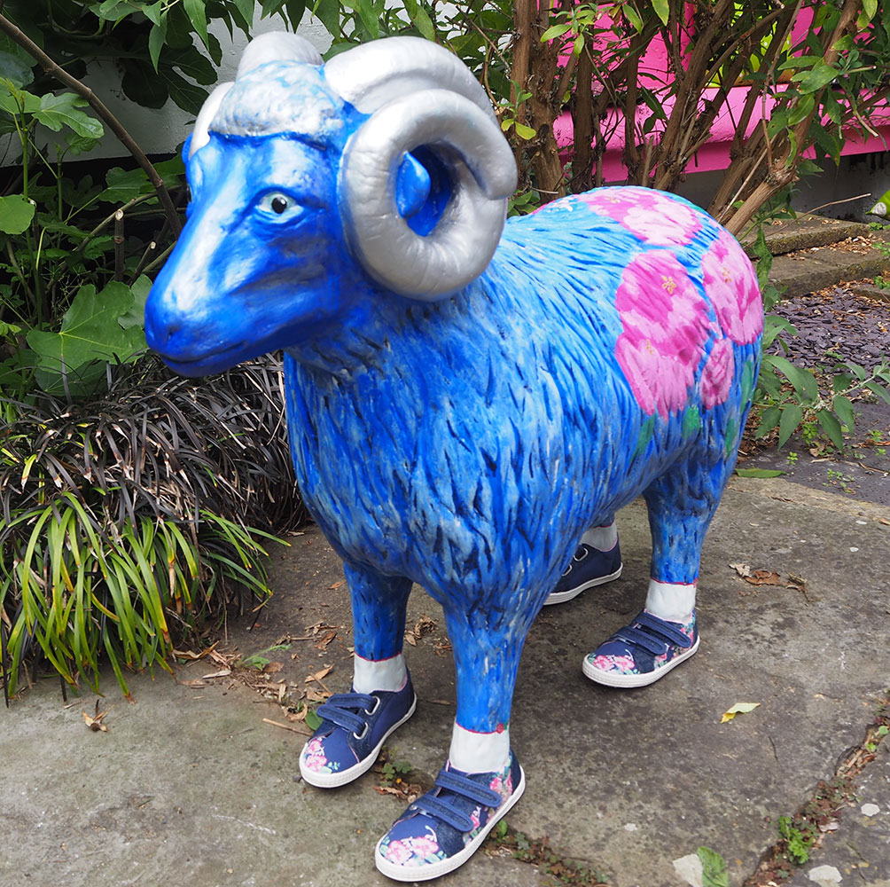 Lot 7 - Edith in her ewe shoes.