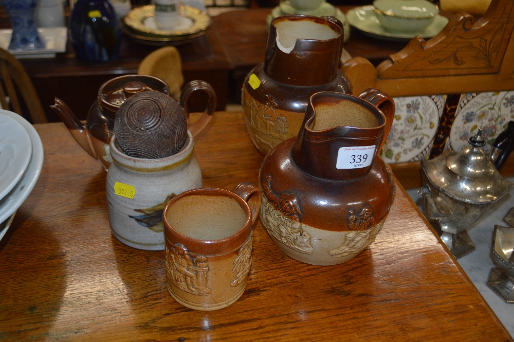 Lot 339 - A quantity of Doulton Lambeth china to include two