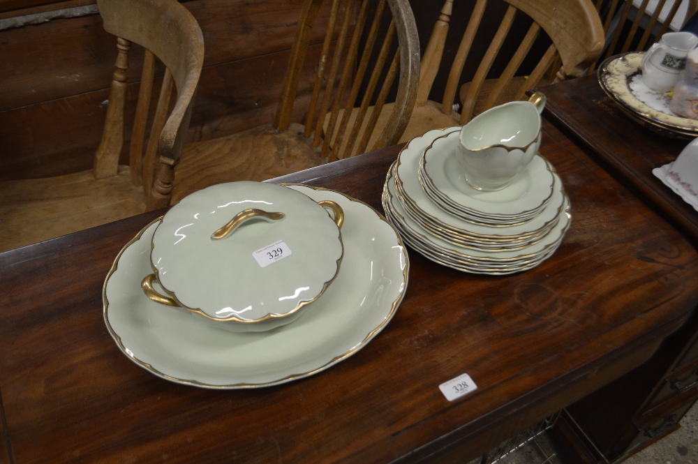 "Lot 329 - A quantity of Grindleys ""Almond Petal"" dinnerware"