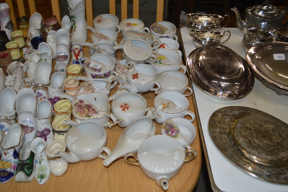 Lot 391 - A collection of china feeding cups