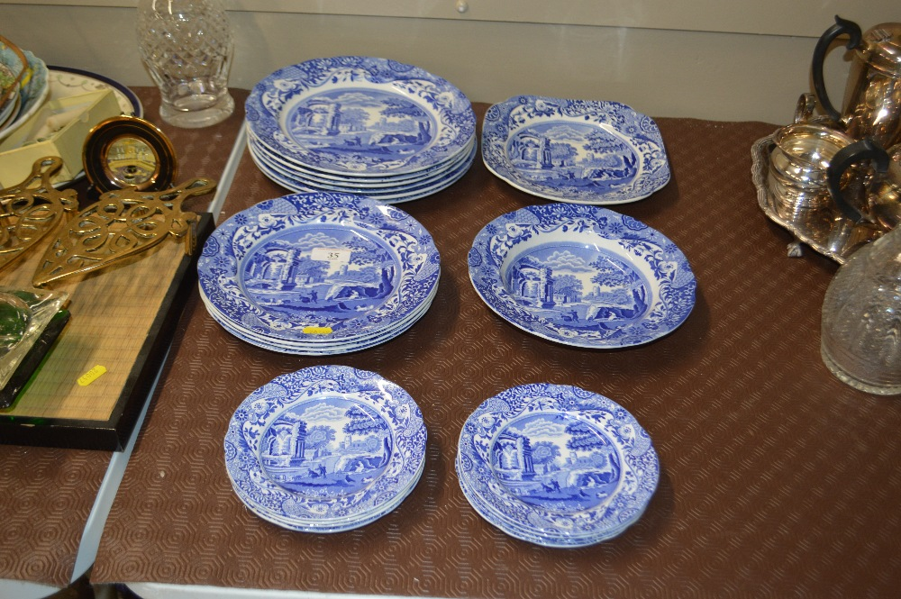 """Lot 35 - A quantity of Copeland Spode """"Italian"""" patterned p"""