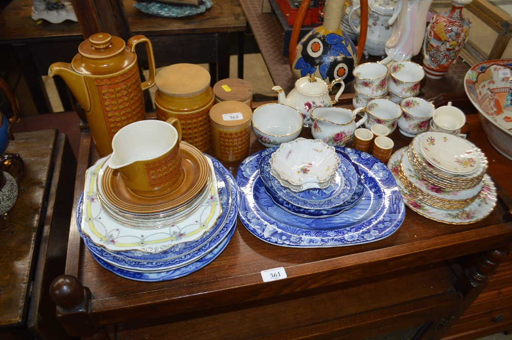 Lot 362 - A collection of Victorian blue and white china pla