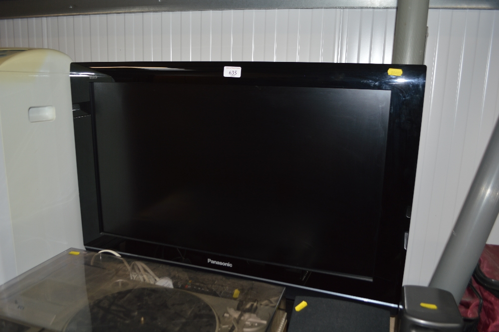 Lot 635 - A Panasonic flat screen TV with remote control