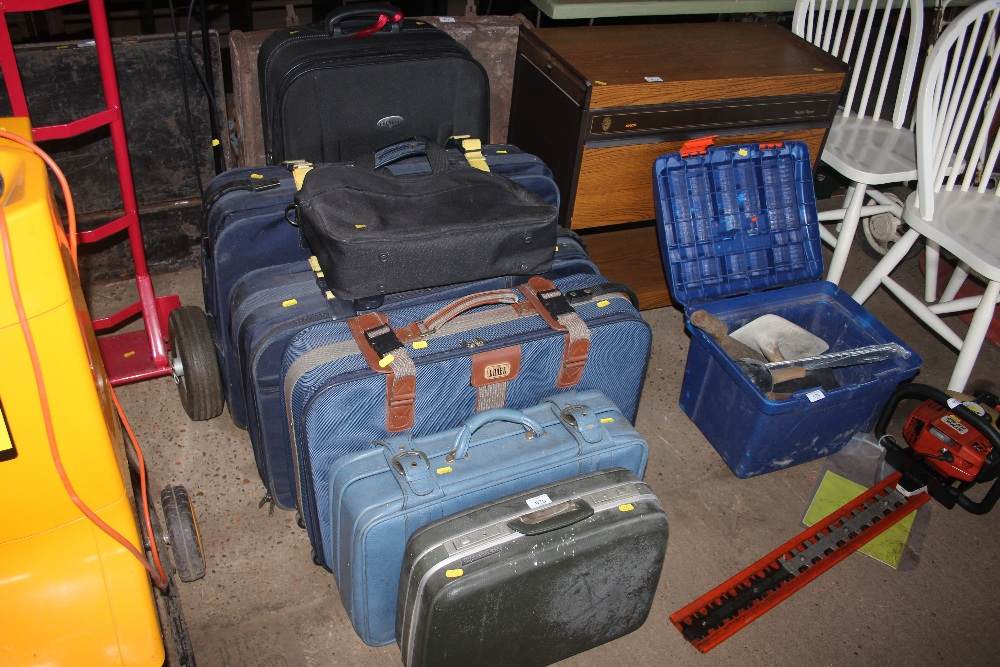 Lot 976 - A large quantity of various suitcases