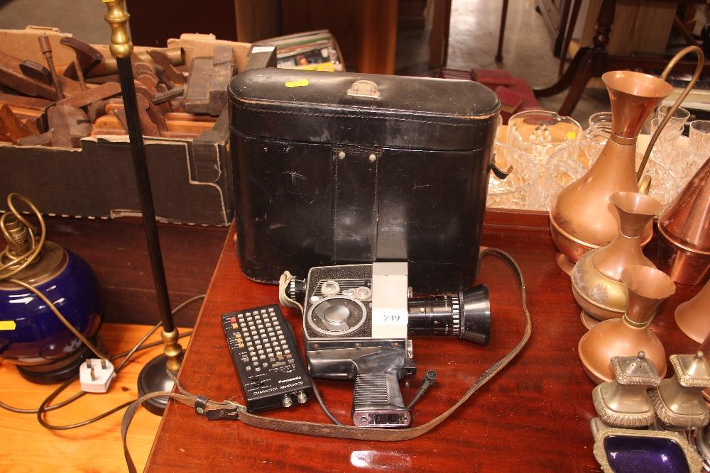 Lot 749 - A Bolex cine camera in fitted case