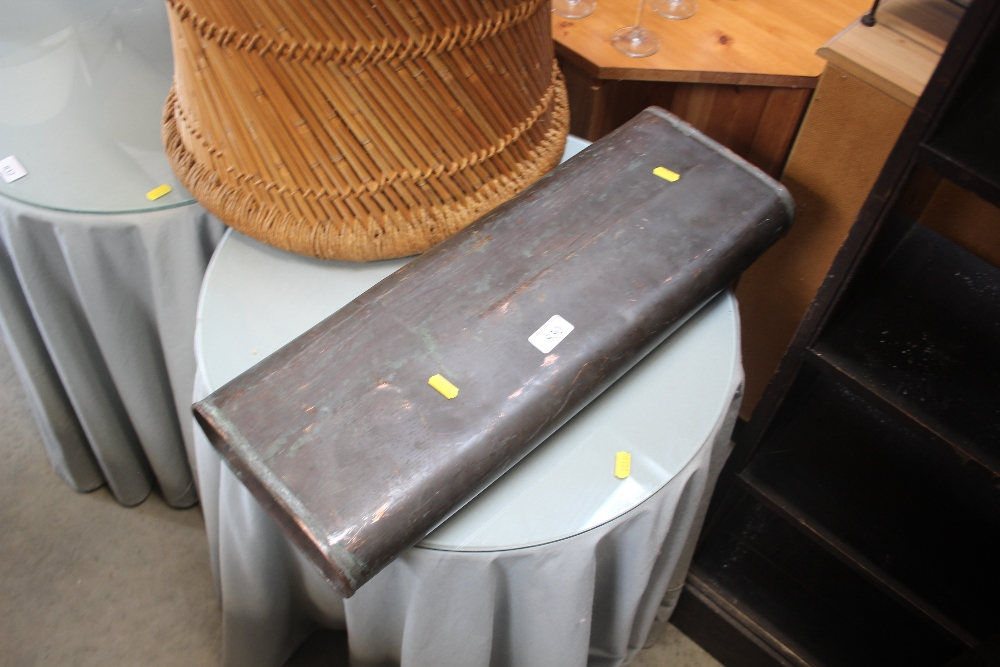 Lot 830 - A copper warmer