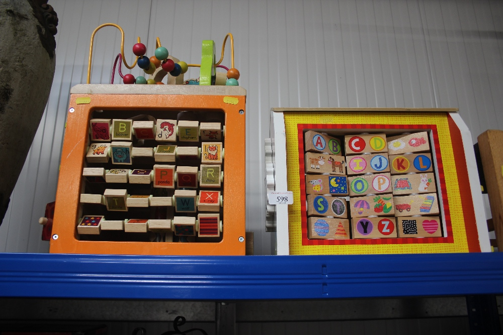 Lot 598 - Two children's learning toys