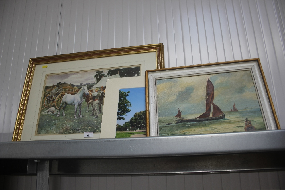 Lot 563 - A quantity of pictures and prints