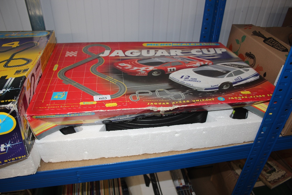 Lot 603 - A Jaguar Cup Scalextric set