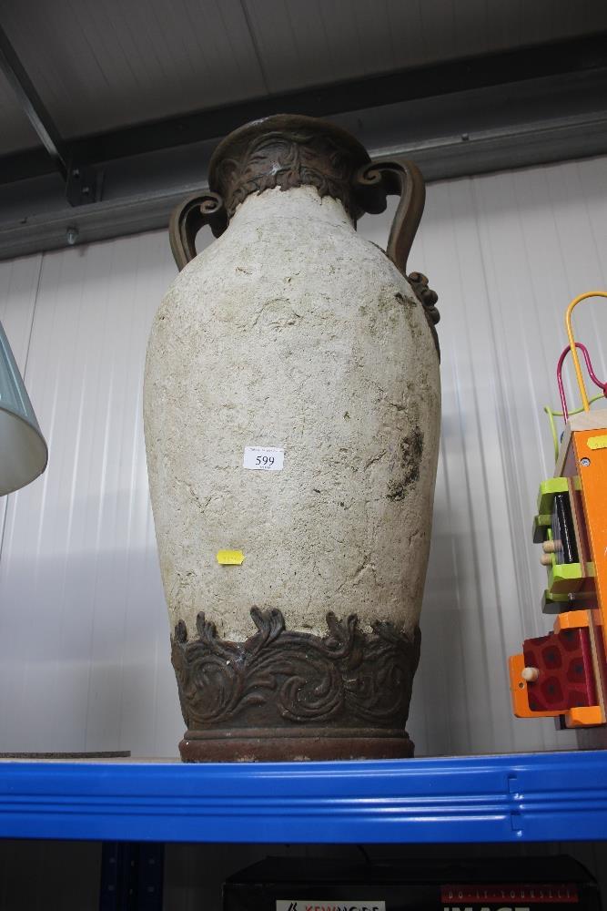 Lot 599 - A large twin handled urn AF