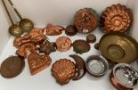 Lot 23 - Copper kitchen moulds, etc.