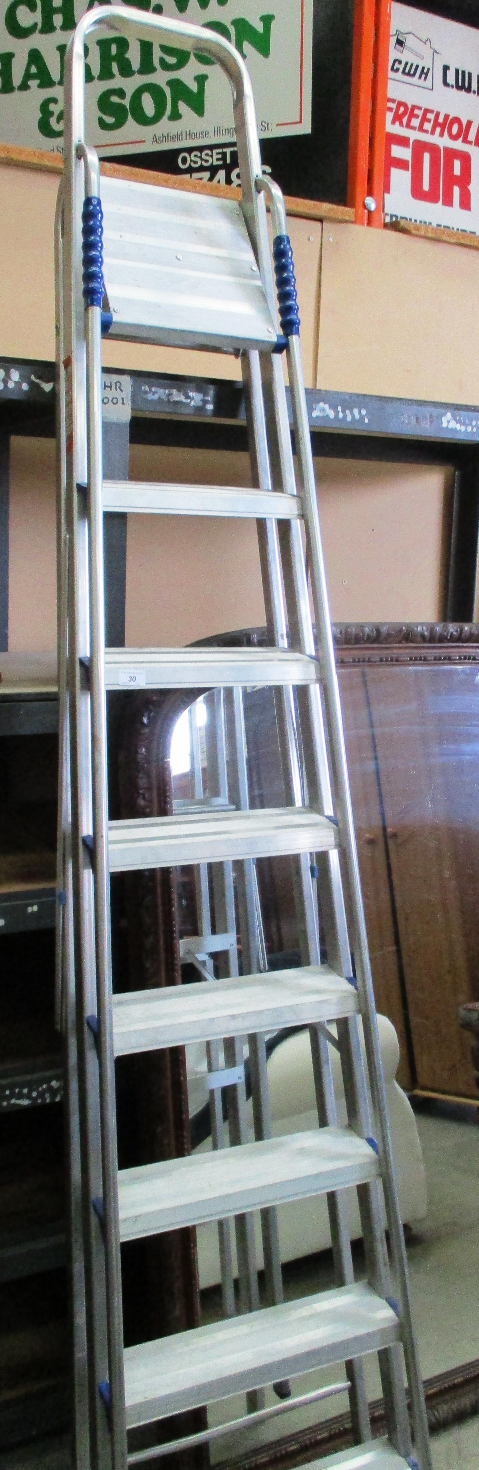 Lot 30 - A pair of aluminium 7 step step ladders