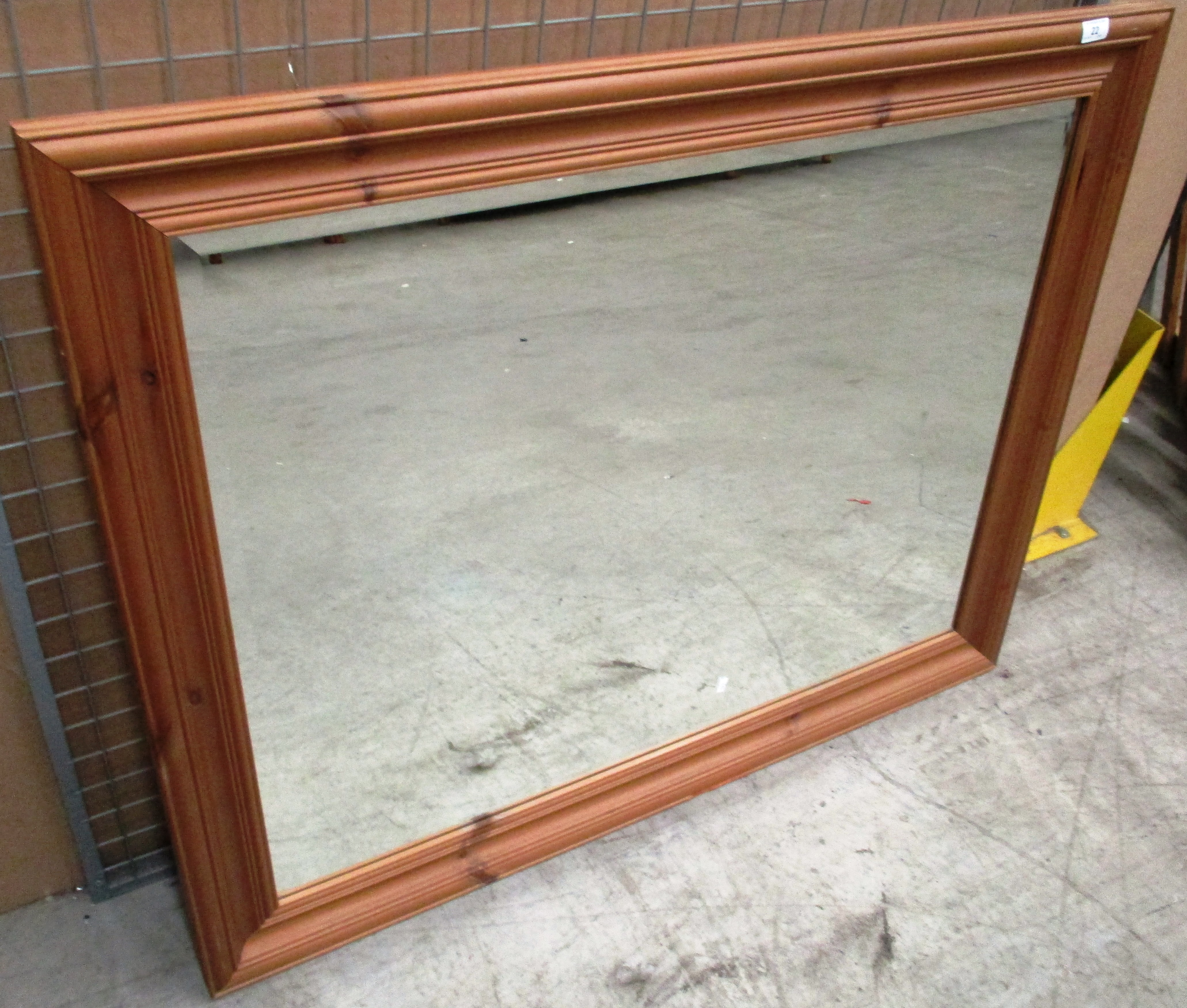 Lot 22 - A Gallery Chester pine framed wall mirror 93 x 119cm