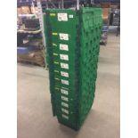 Lot 789 - 30 x green plastic storage crates 40 x 60 x 30cm
