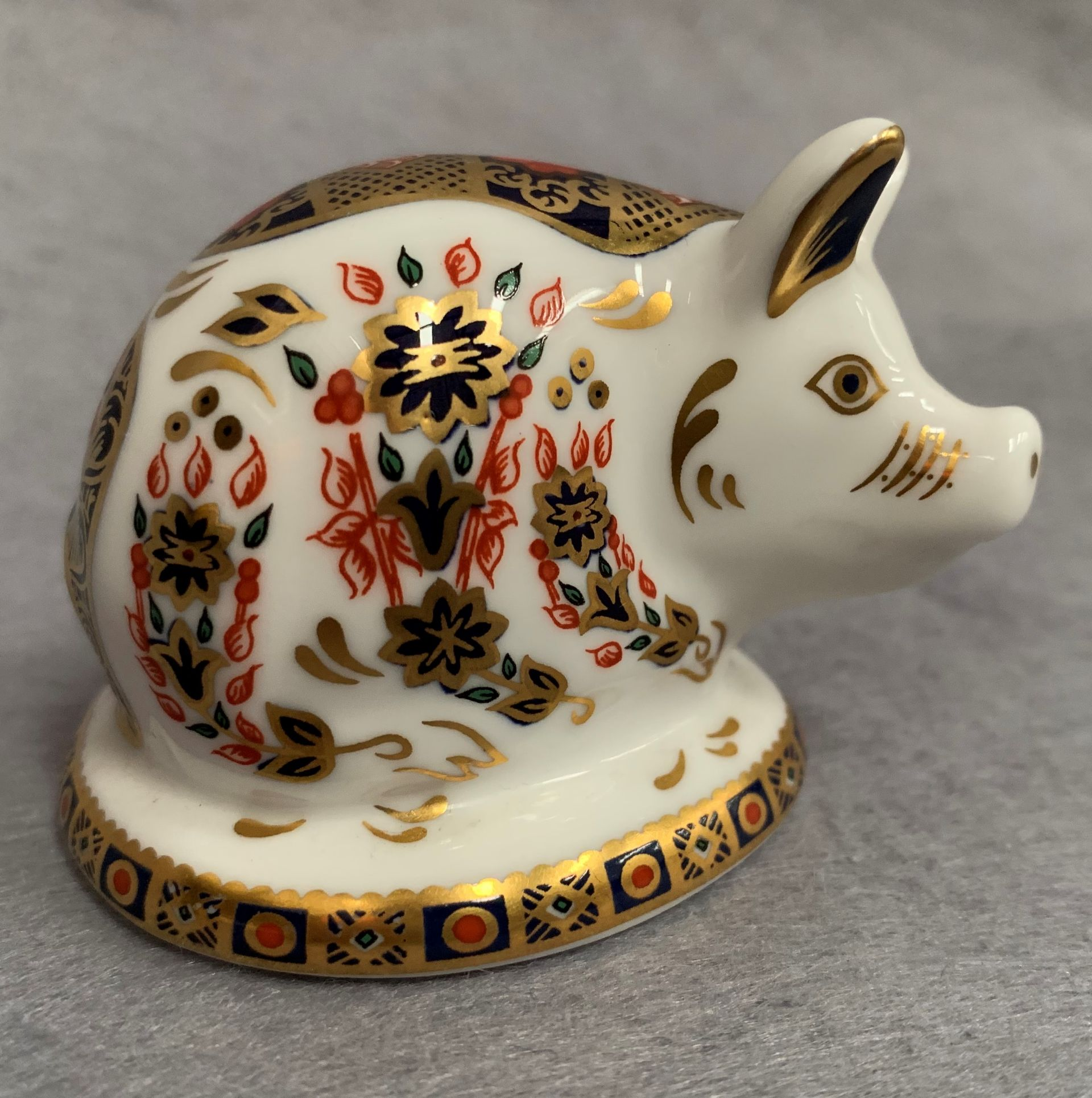 Lot 16 - Royal Crown Derby paperweight modelled as a pig, LVIII,