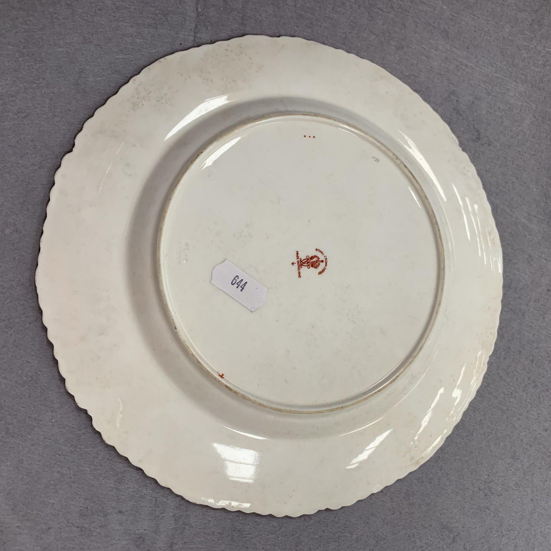 Lot 28 - Royal Crown Derby plate - 22½cmdiameter.