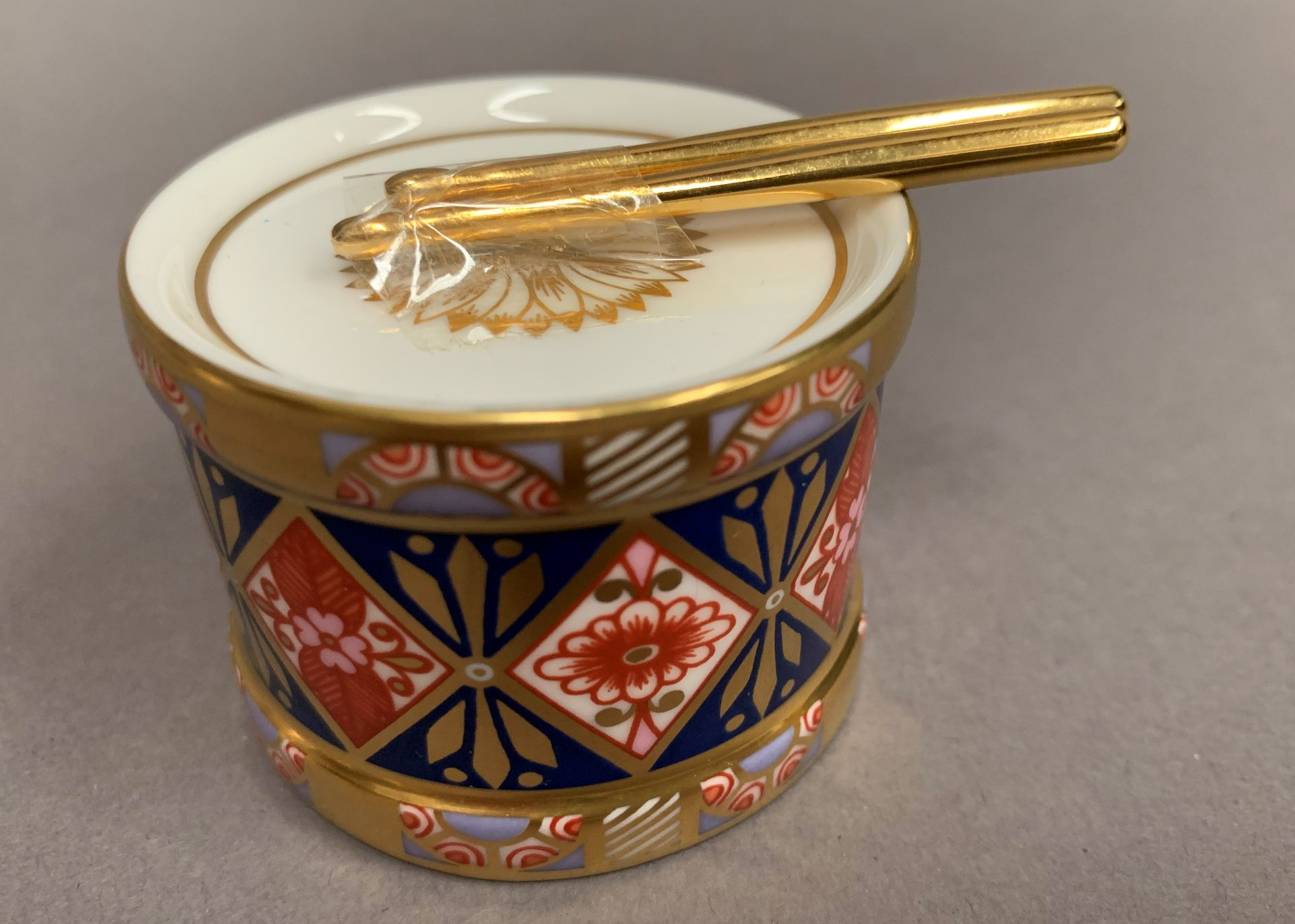 Lot 12 - Royal Crown Derby drum paperweight, LXI,
