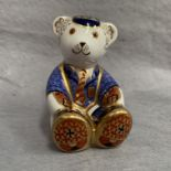 Lot 25 - Royal Crown Derby paperweight modelled as Schoolboy Teddy 2001,