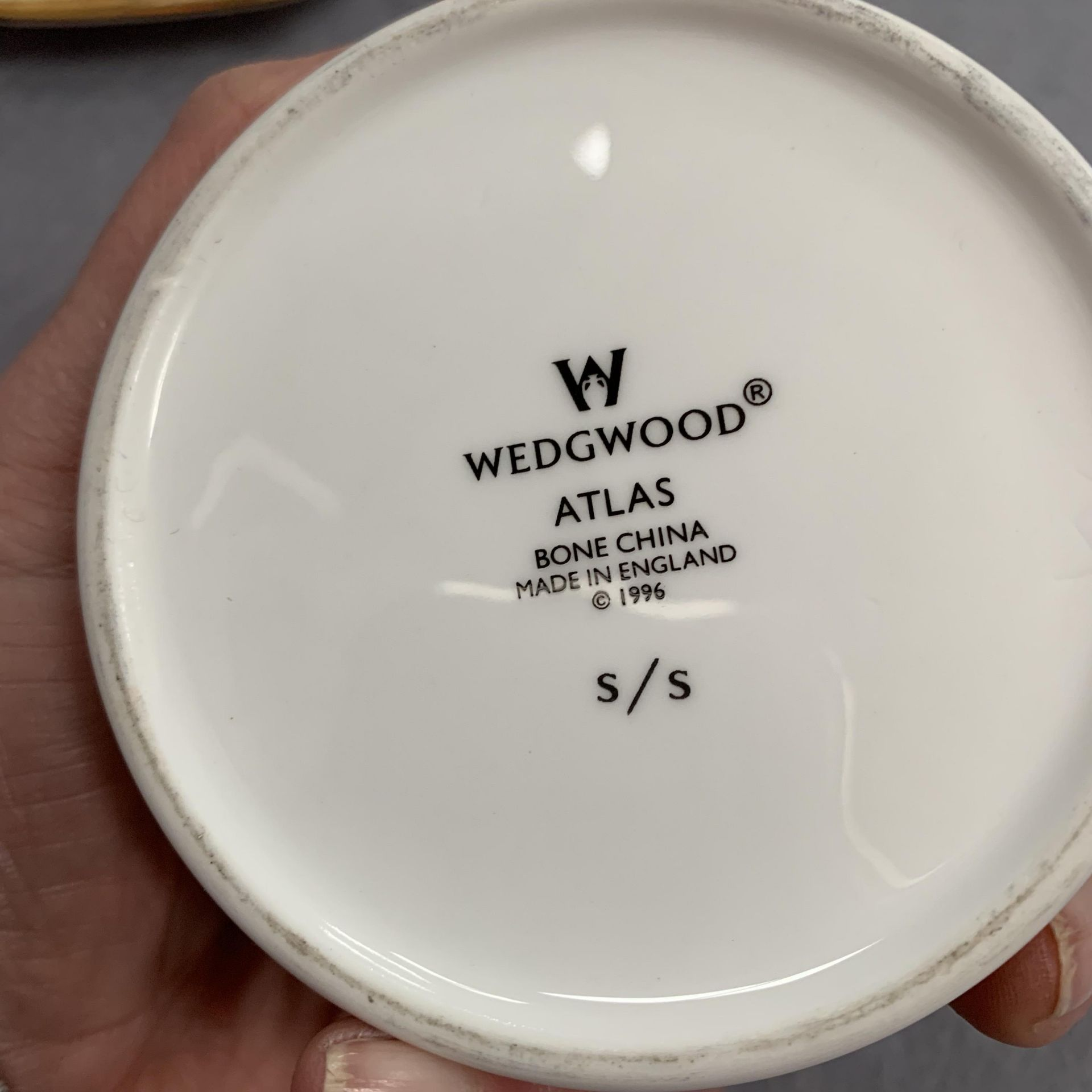 Lot 30 - Wedgwood Atlas paperweight, jar and cover, small dish,