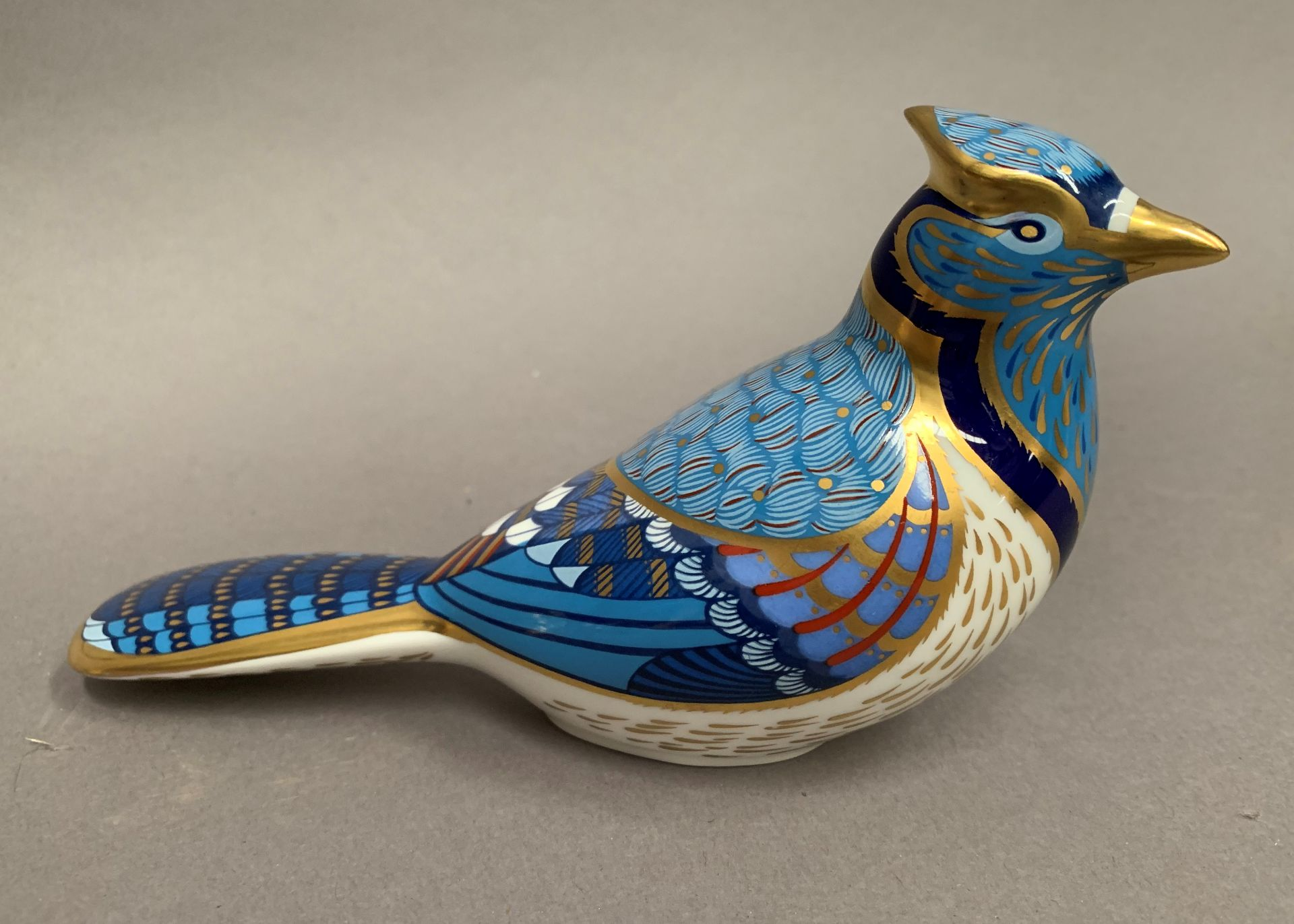 Lot 6 - Royal Crown Derby paperweight modelled as a bird, LXI,