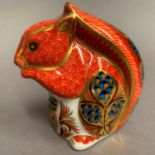 Lot 3 - Royal Crown Derby paperweight modelled as a squirrel, LXI,