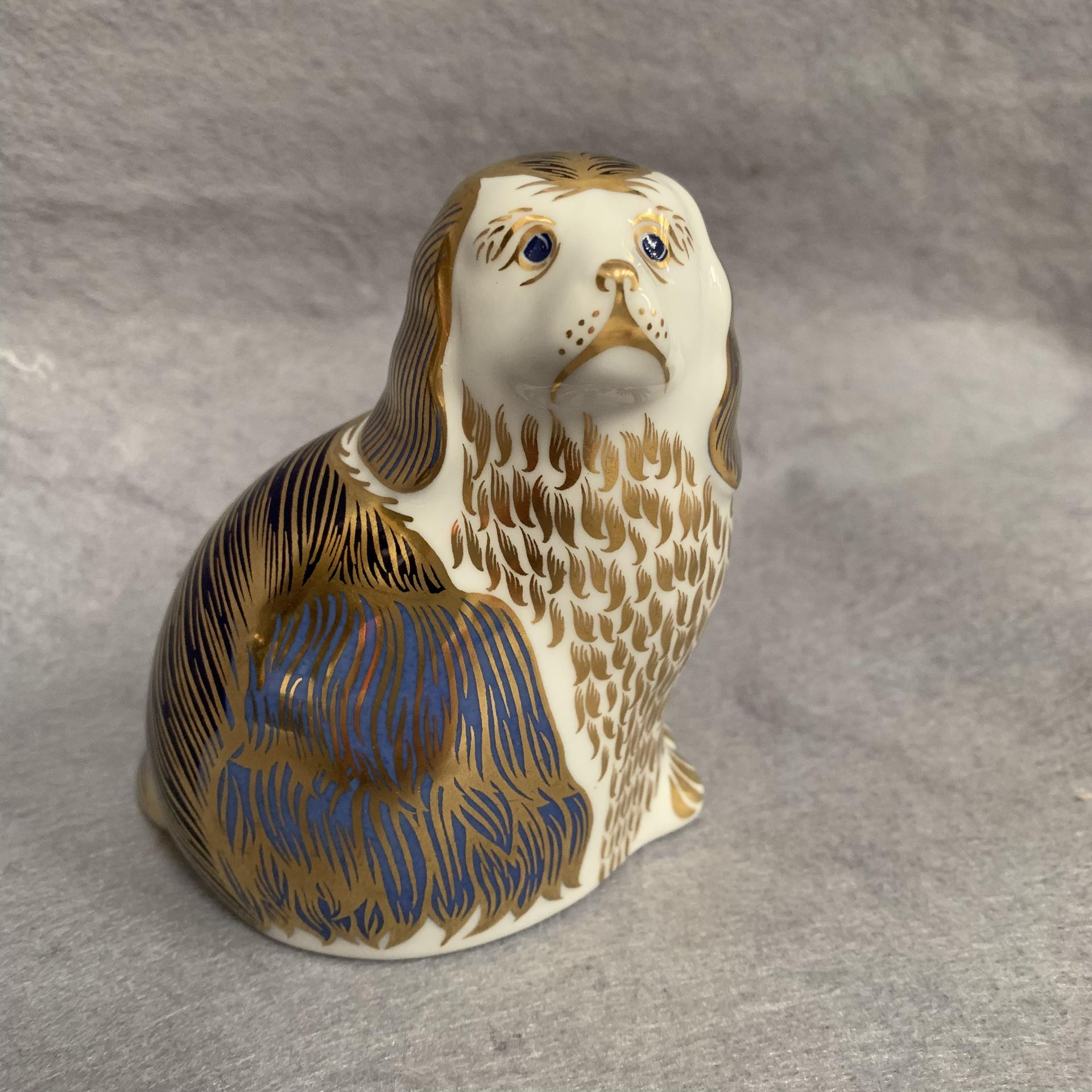 Lot 9 - Royal Crown Derby paperweight modelled as a spaniel, LVI,