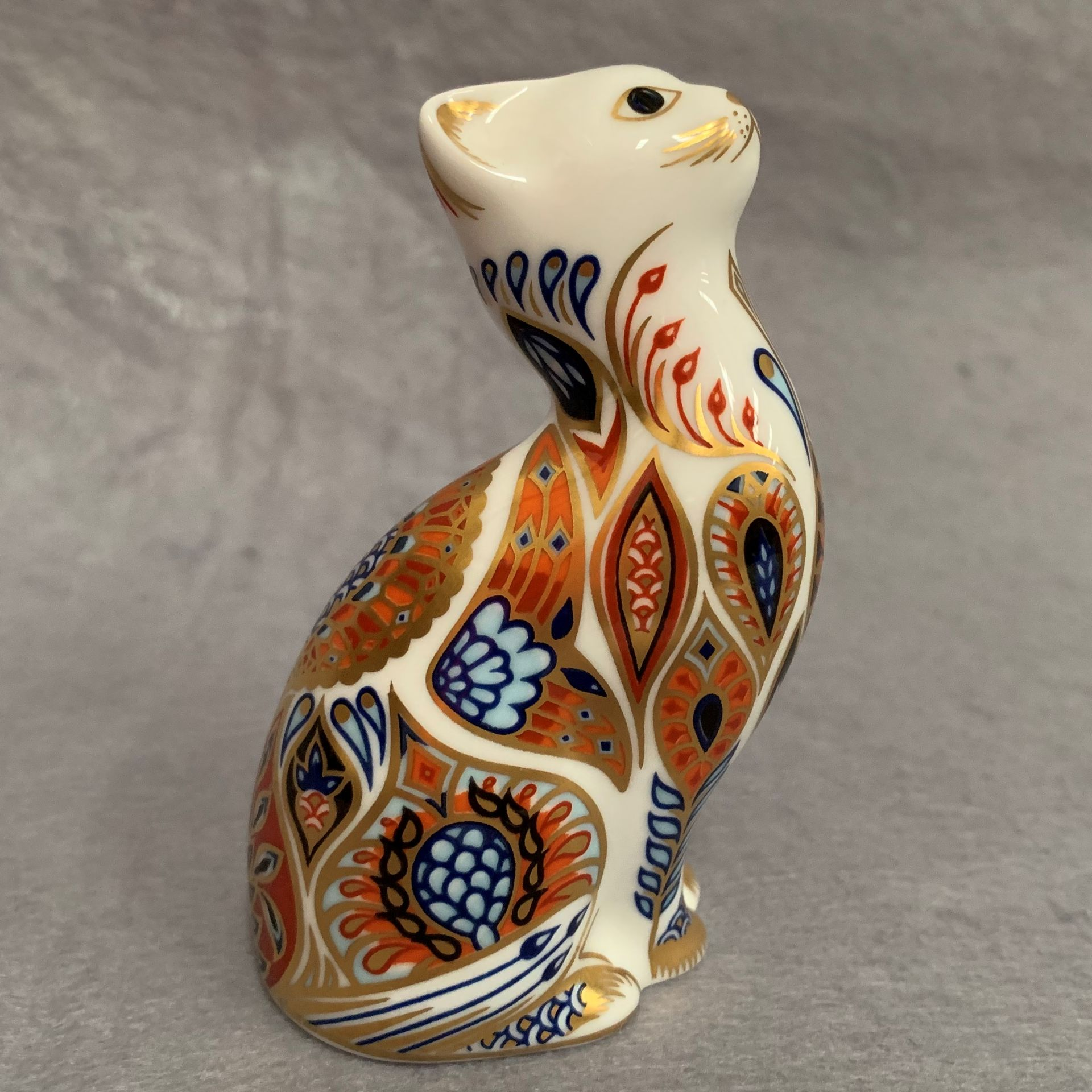 Lot 27 - Royal Crown Derby paperweight modelled as a cat, LIX,