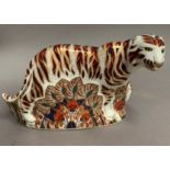 Lot 7 - Royal Crown Derby paperweight modelled as a Bengal Tiger, LVIII,