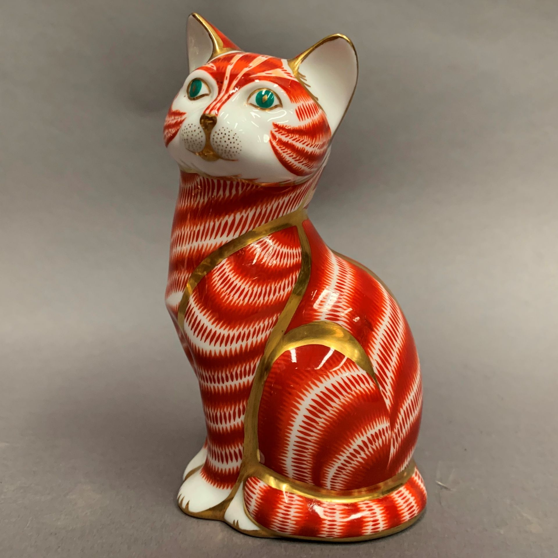 Lot 4 - Royal Crown Derby paperweight modelled as a cat, LVII,