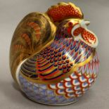 Lot 1 - Royal Crown Derby paperweight modelled as a hen, LIX,