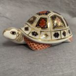 Lot 24 - Royal Crown Derby paperweight modelled as a tortoise XLIX
