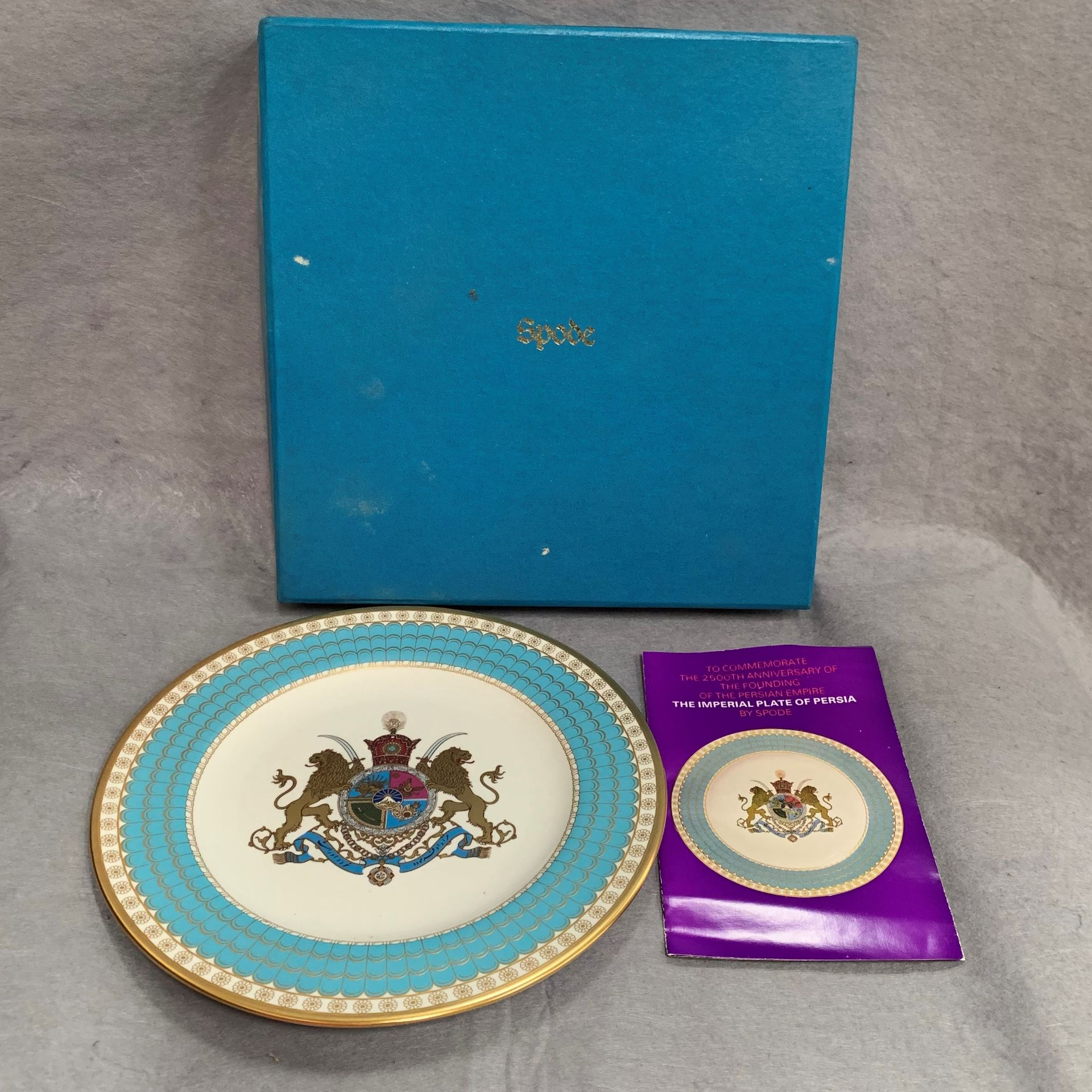 Lot 35 - A Spode 'The Imperial Plate of Persia' - boxed Further Information Photo attached.