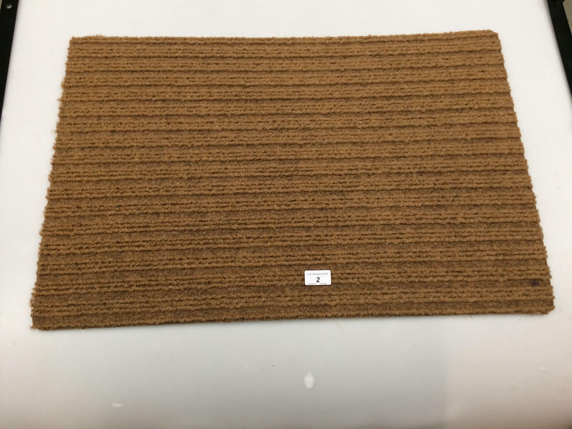 Lot 2 - 10 x brown door mats with rubber anti-slip inlay each 50 x 75cm
