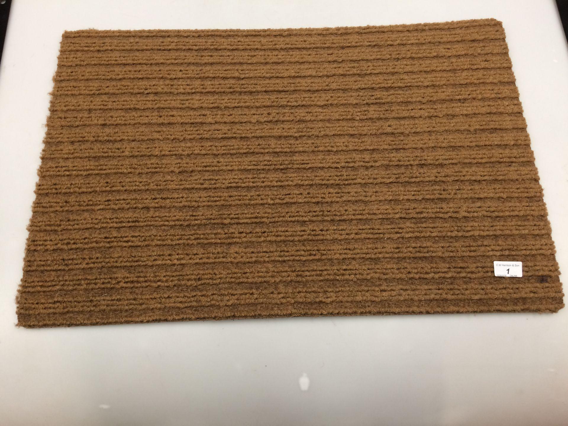 Lot 1 - 10 x brown door mats with rubber anti-slip inlay each 50 x 75cm