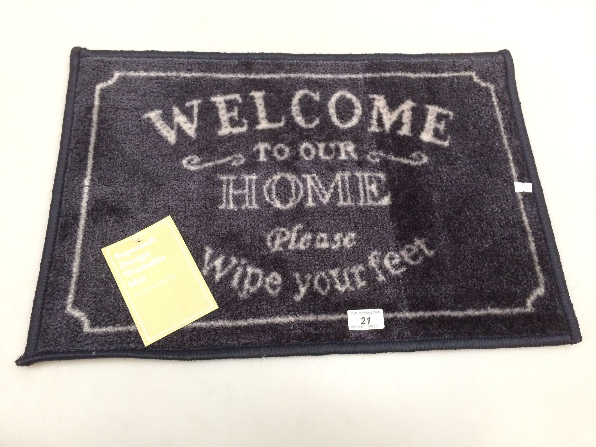 Lot 21 - 10 x 'Welcome to your Home' supersoft design washable door mats each 40 x 58cm