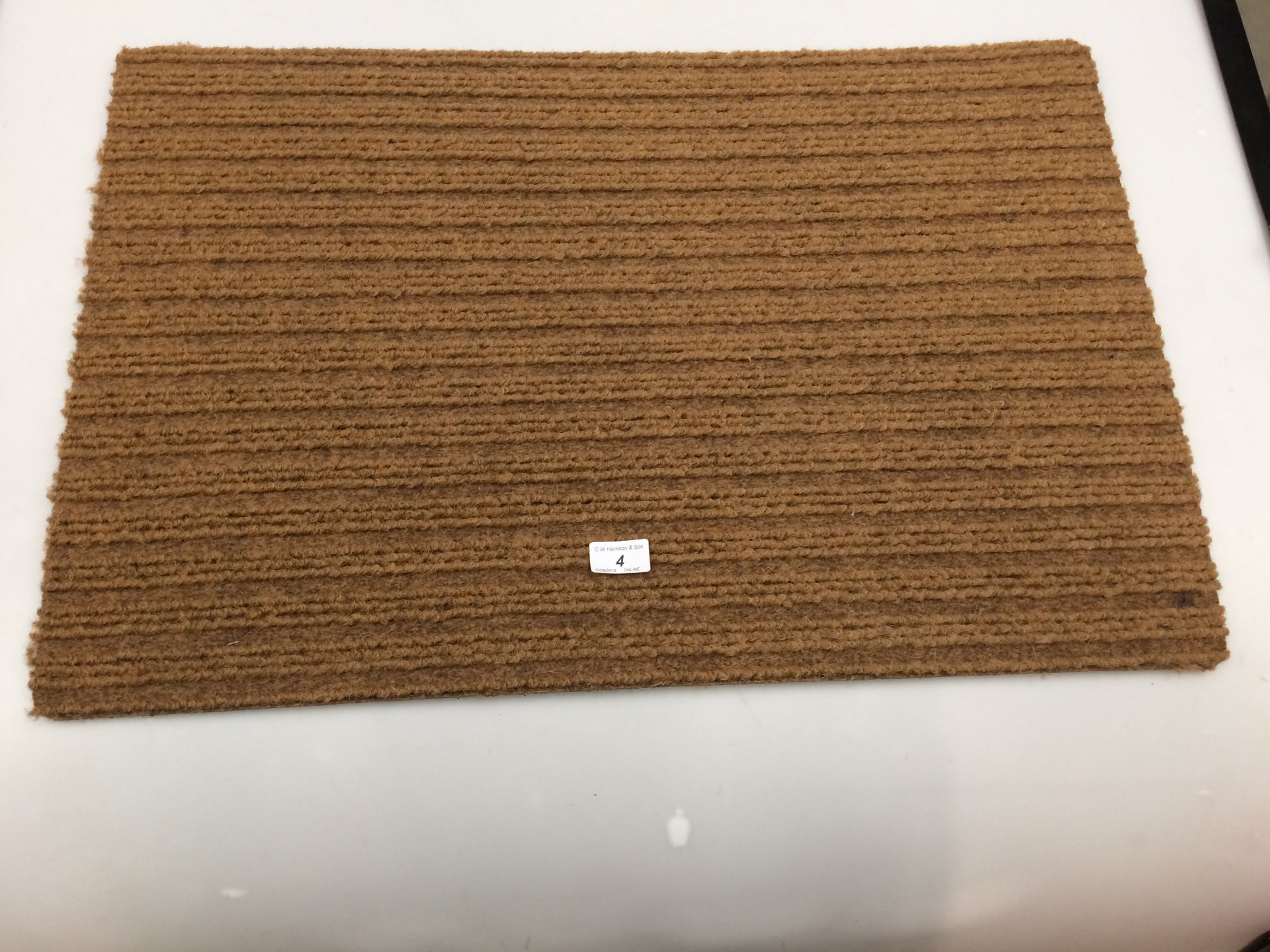 Lot 4 - 10 x brown door mats with rubber anti-slip inlay each 50 x 75cm