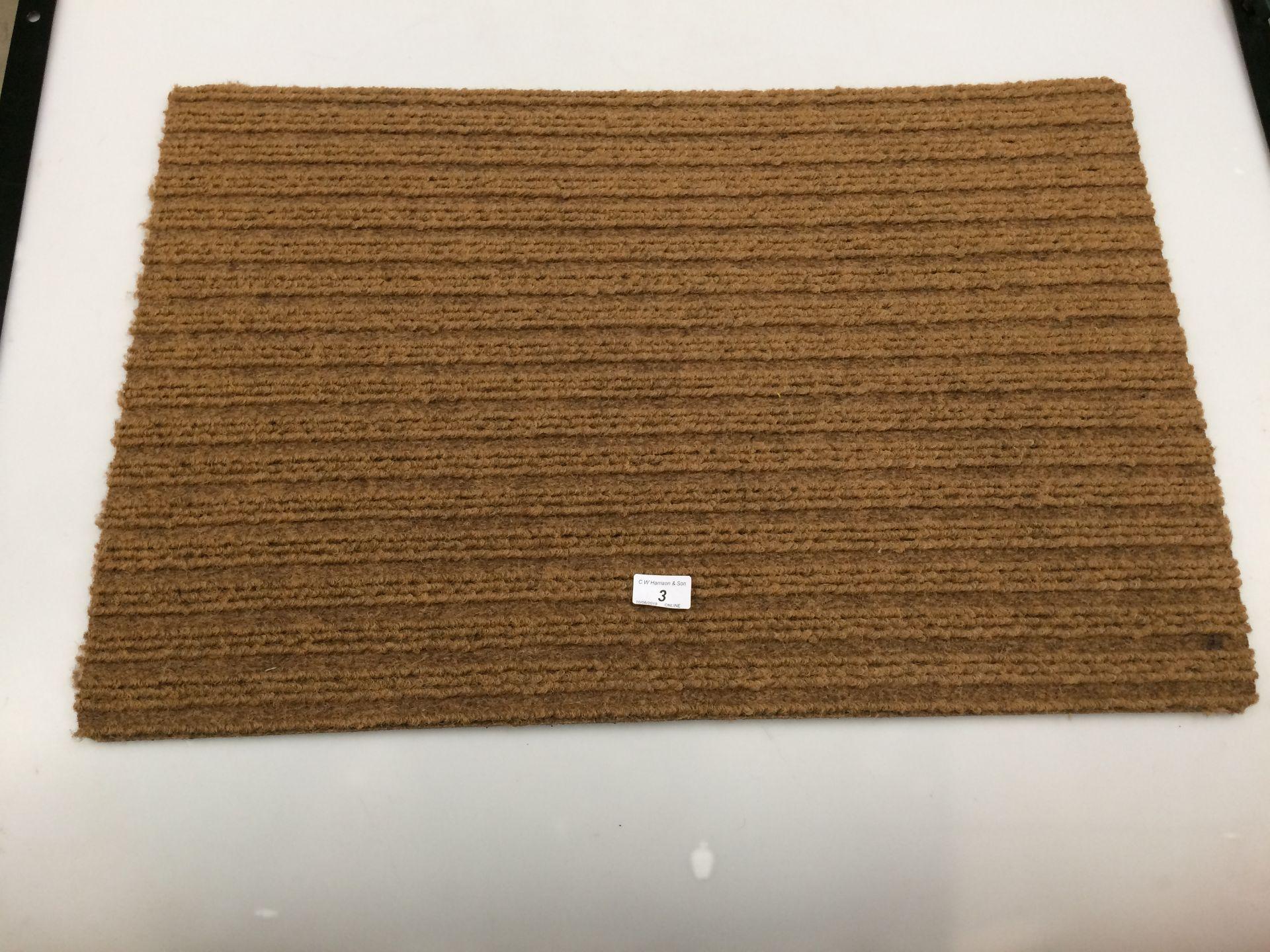 Lot 3 - 10 x brown door mats with rubber anti-slip inlay each 50 x 75cm