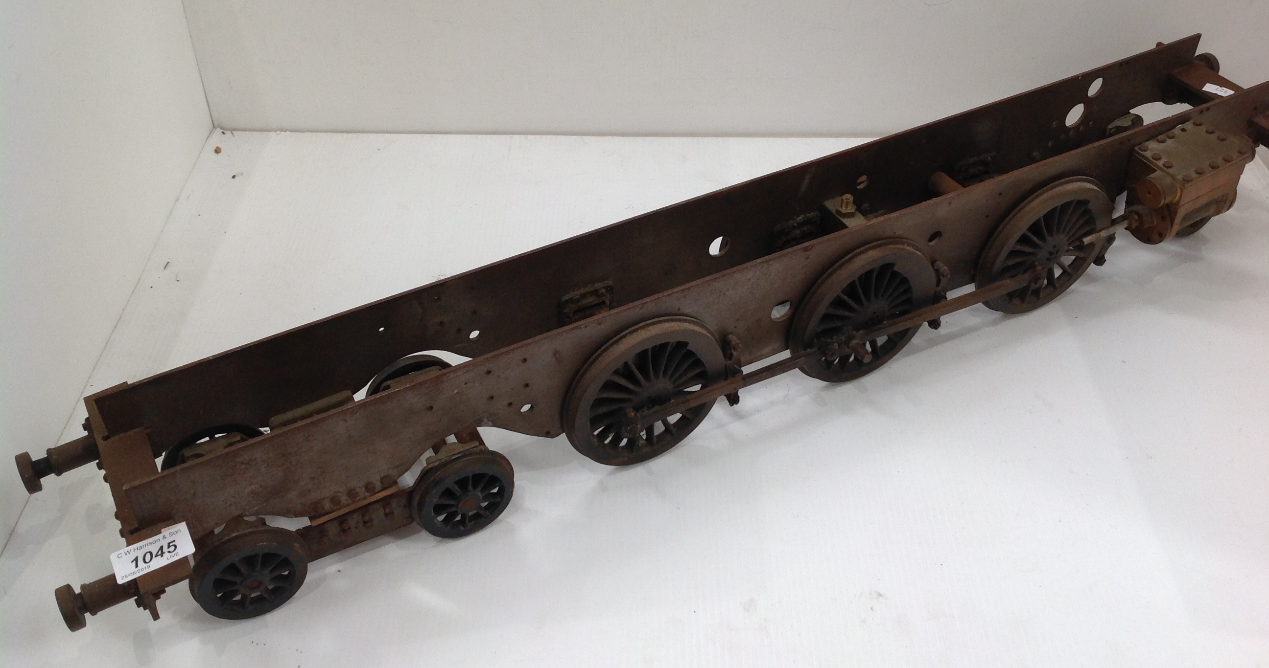 Lot 1045 - A scale model railway steam engine chassis