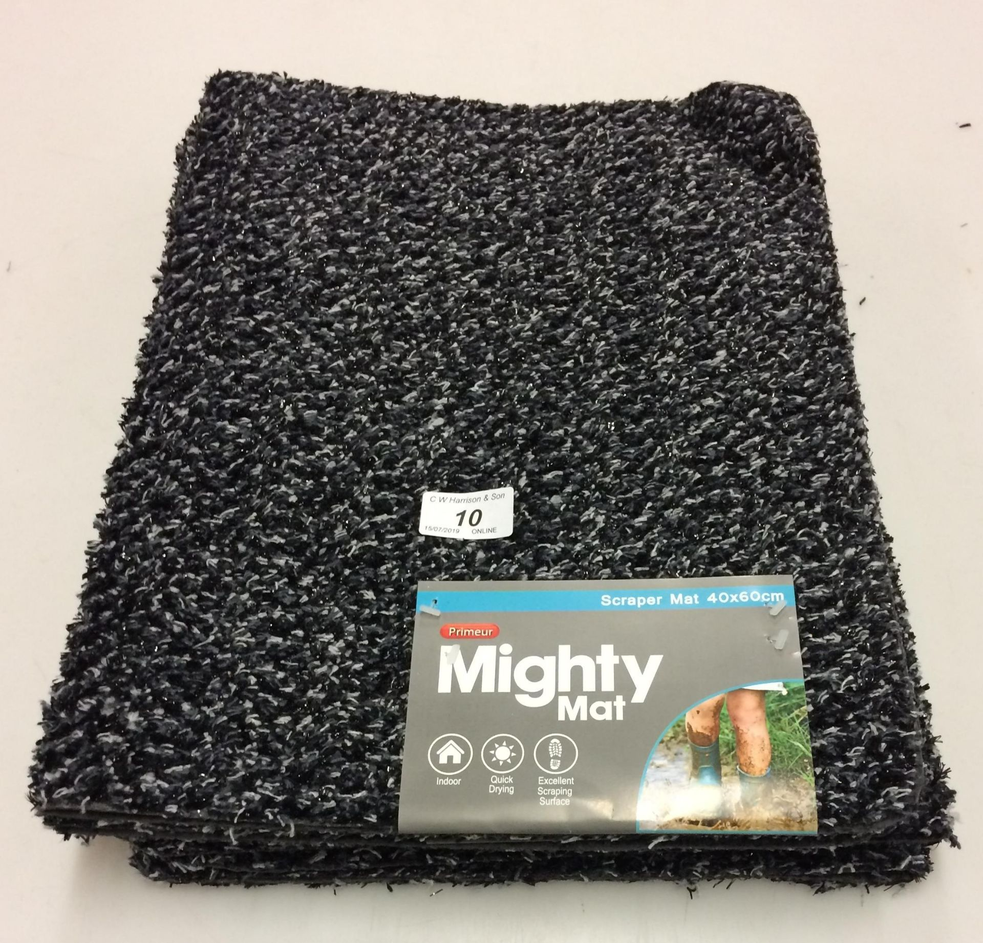 Lot 10 - 20 x Primeur Mighty Mat scraper mats 40 x 60cm